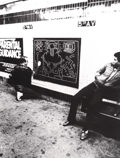 Haring Subway Drawings Haring Died of Aids in