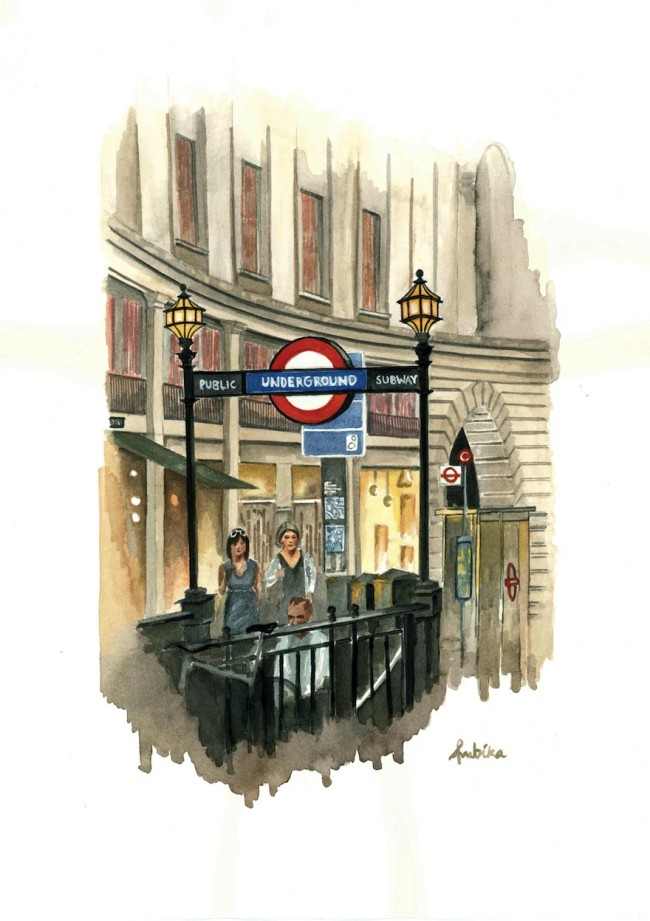 guest city london watercolor by ambika jhunjhunwala subway art blog